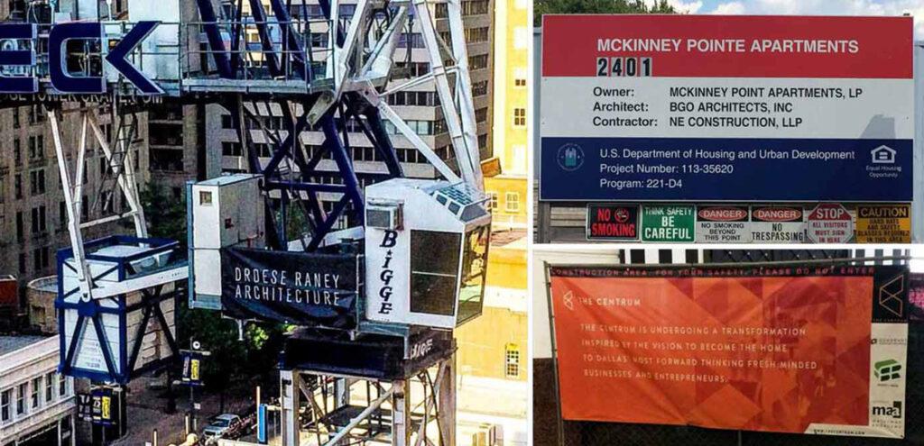 Reusable Construction Site Signage